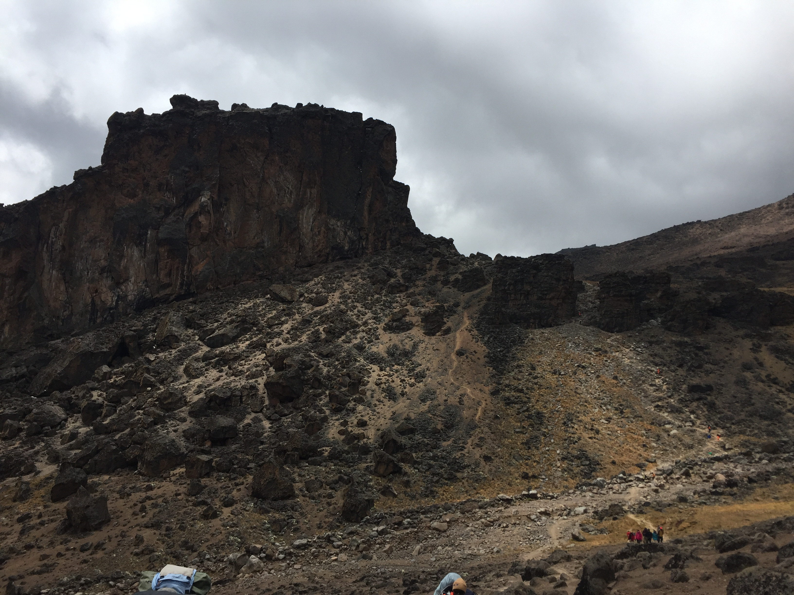 Looking back up towards the Lava Tower after and interesting descent.