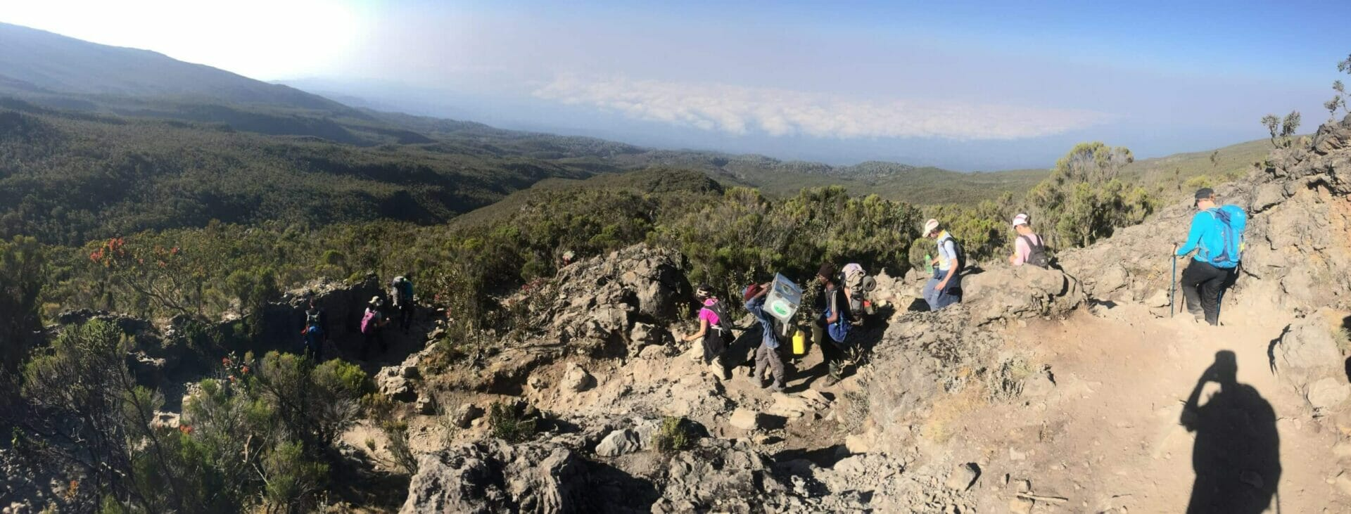 Kilimanjaro Descent Panorama