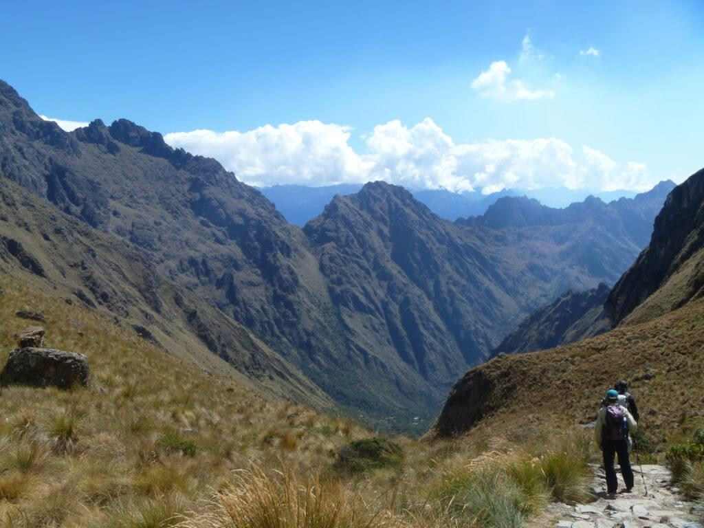 Dead Womans Pass, descending, day 2, Inca Trail
