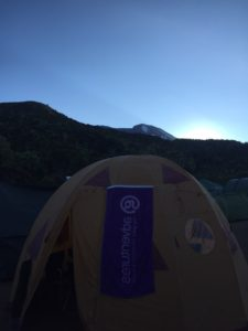 Machame Camp sunrise
