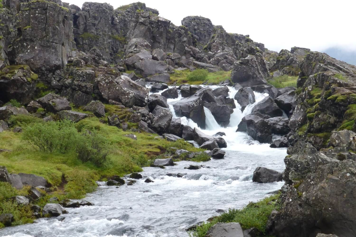 Öxarárfoss Waterfall, thingvellir national park