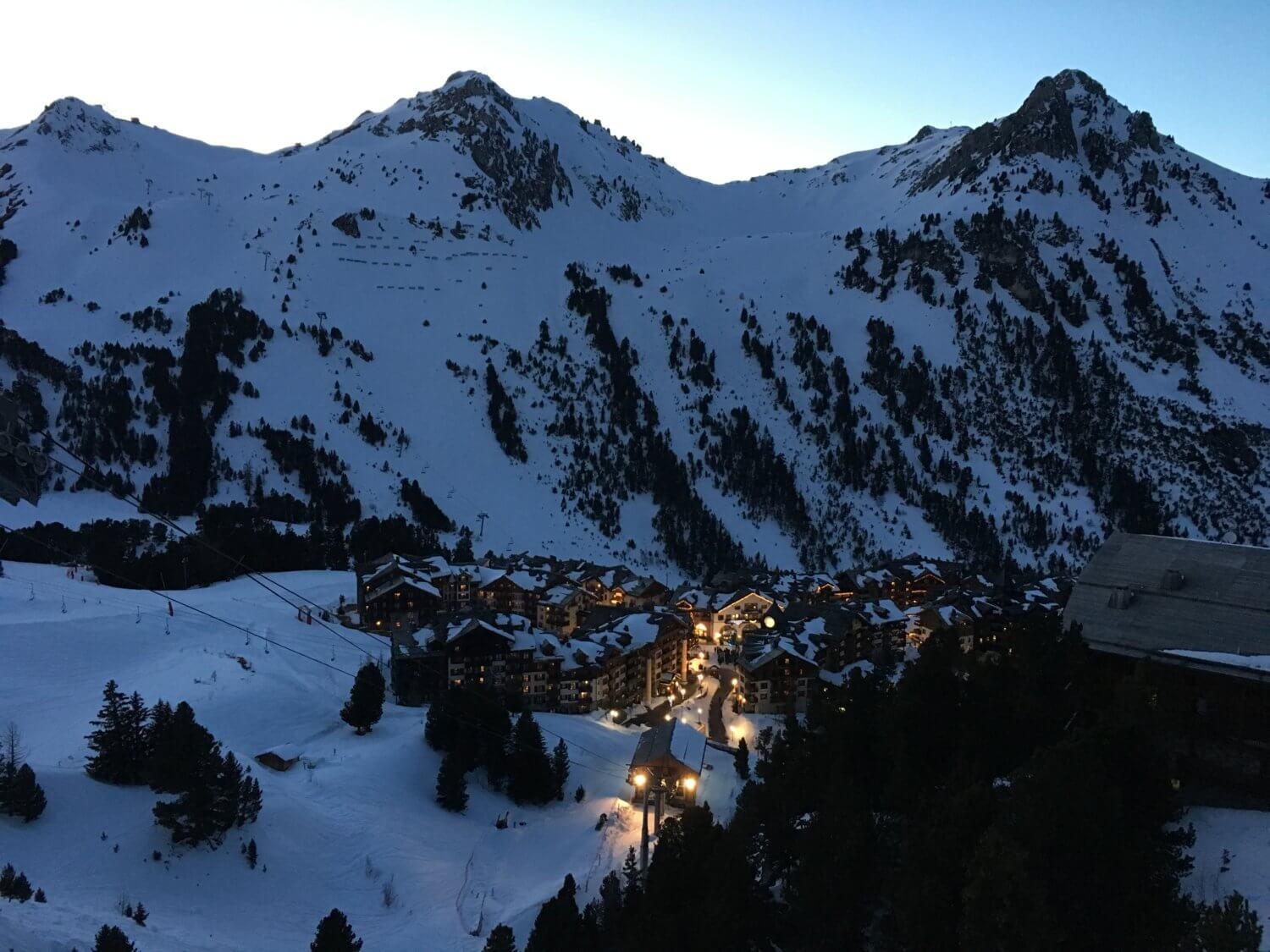 picture postcard villages, les arcs 1950 sunset