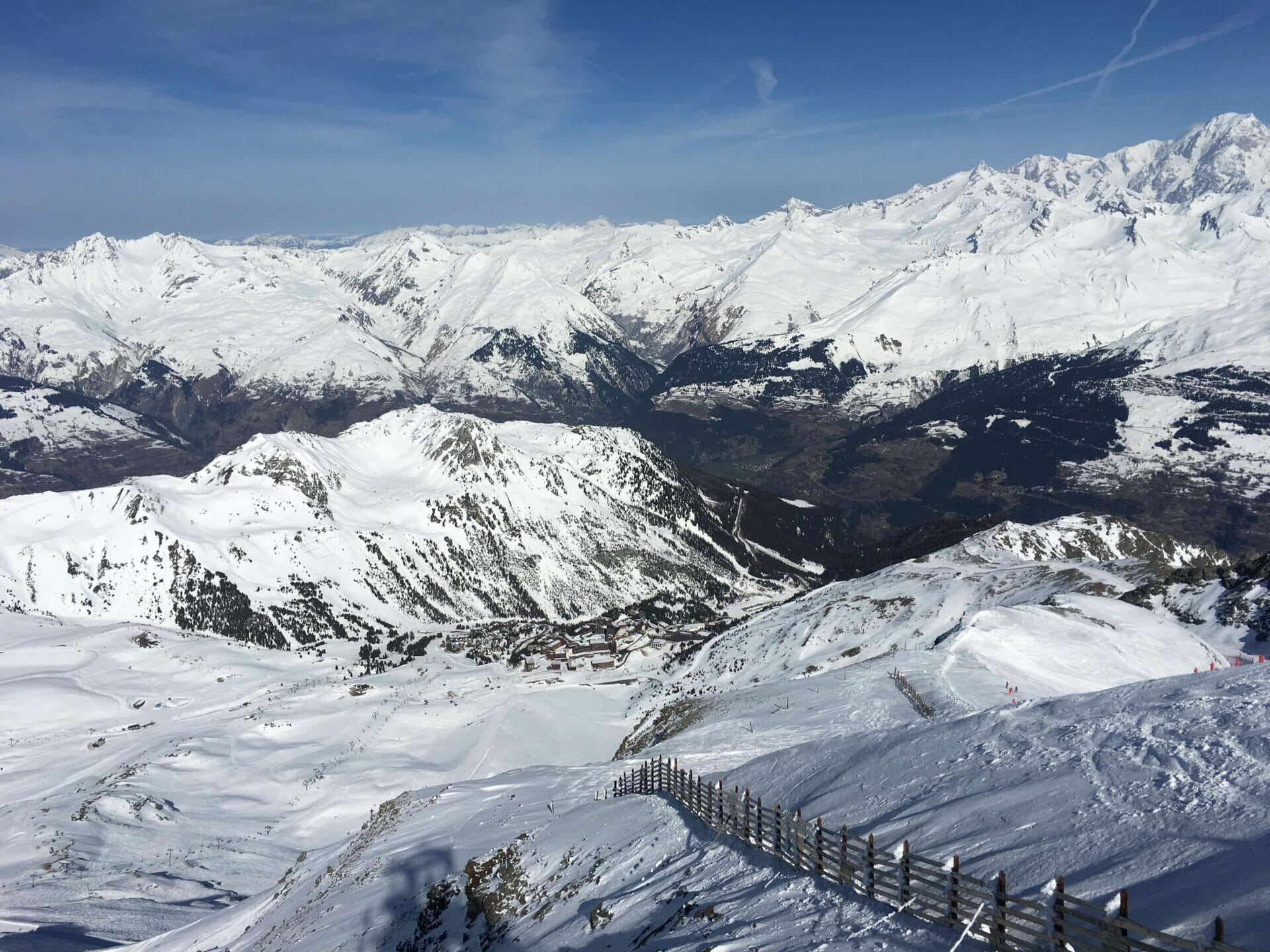 mountain top views, les arcs