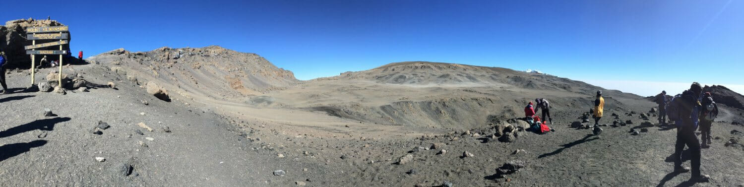 Stella Point Panorama, Reutsch Crater Kilimanjaro