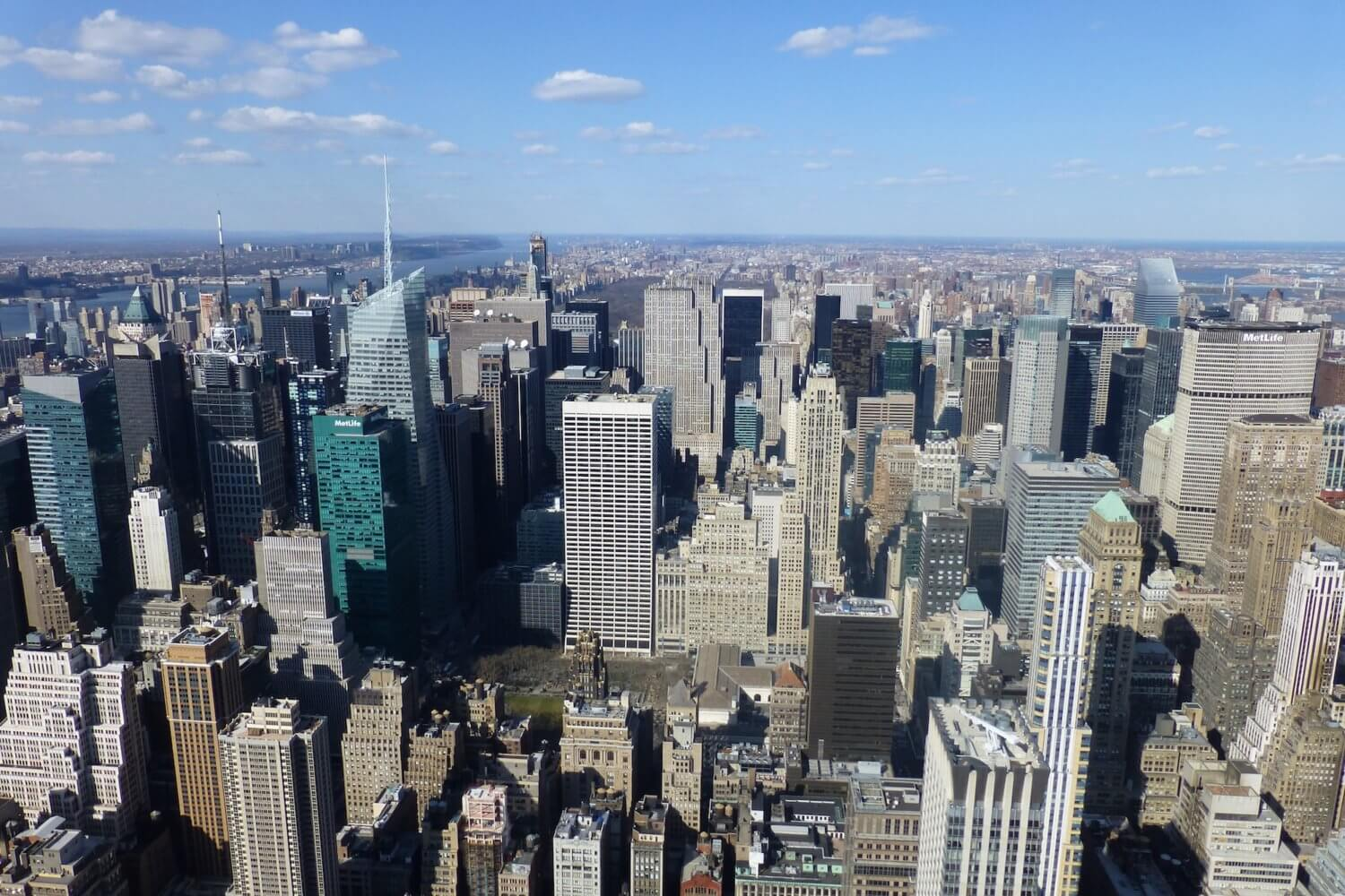 Empire State building view, Empire State observatory, New York skyline