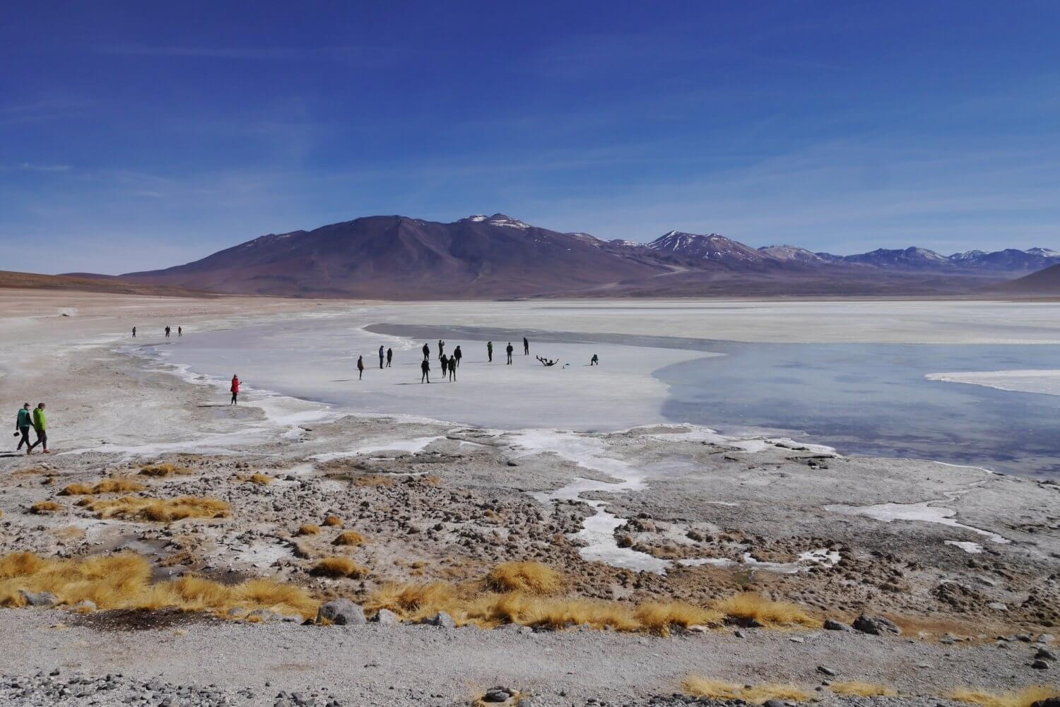 bolivian altiplano, frozen lakes of Bolivia, stunning Bolivian landscapes