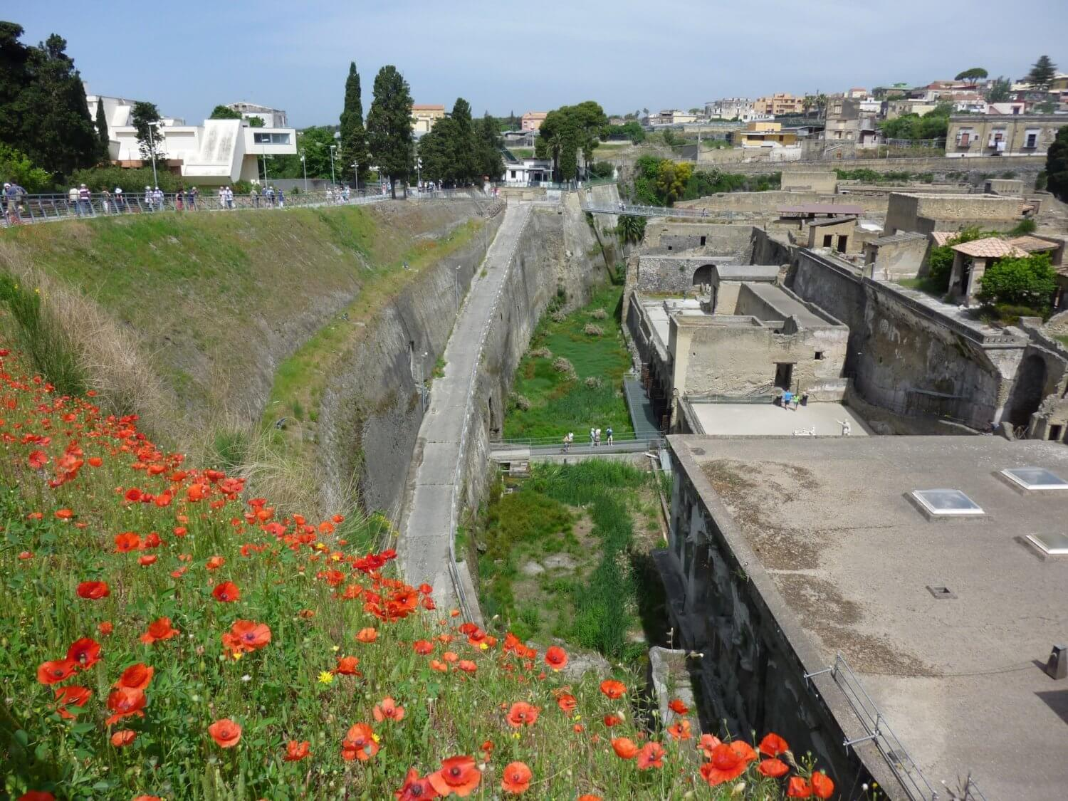 Herculaneum ancient shoreline