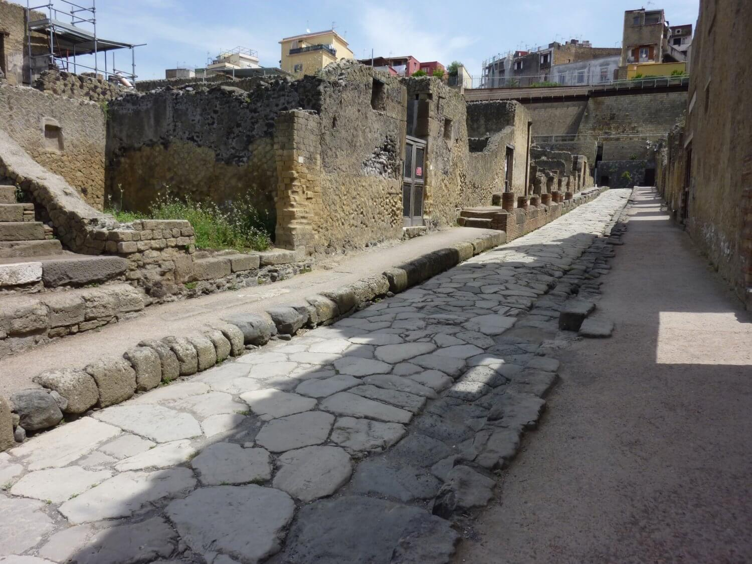 deserted streets of Herculaneum