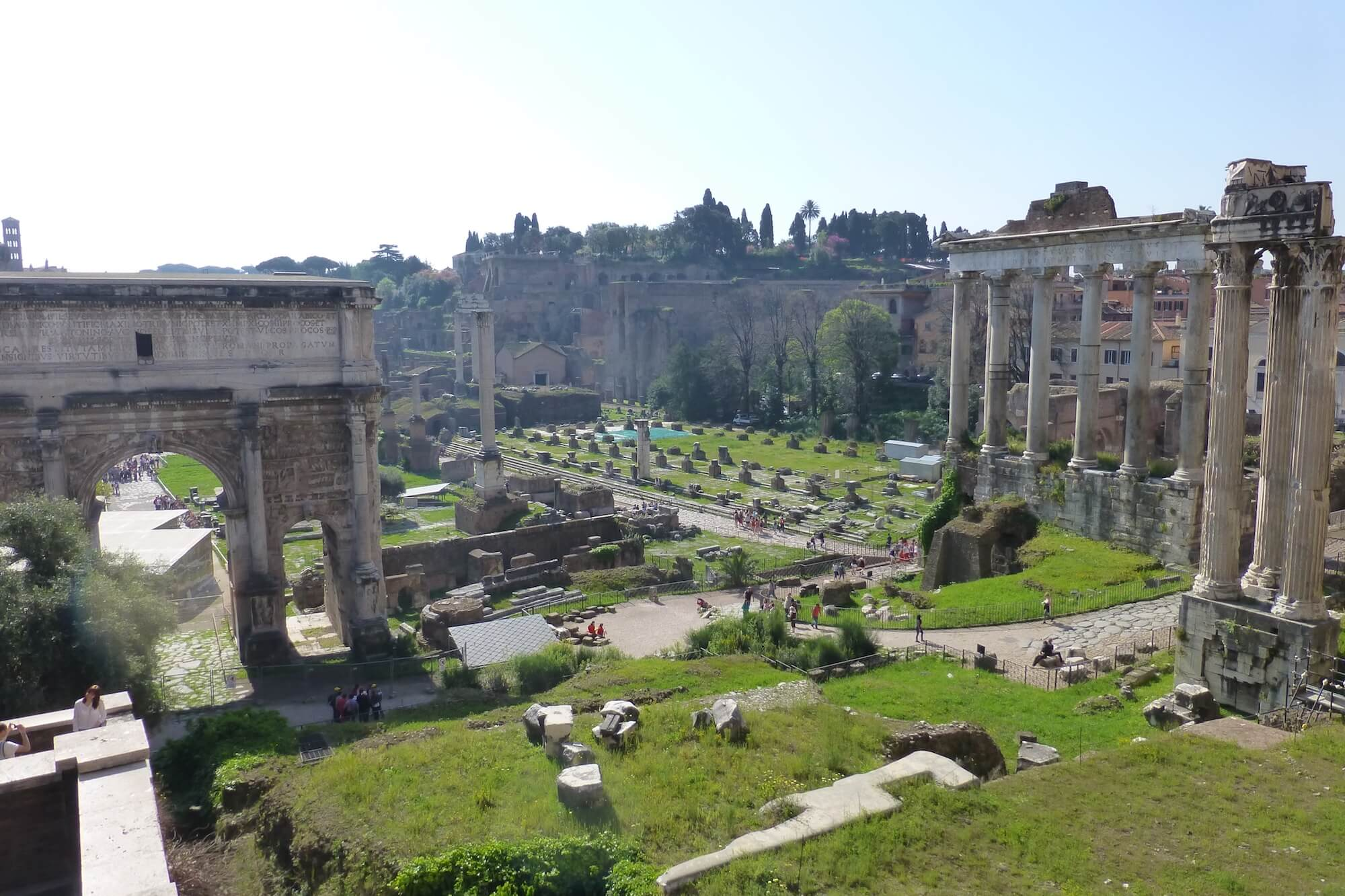 roman forum, looking out over roman forum