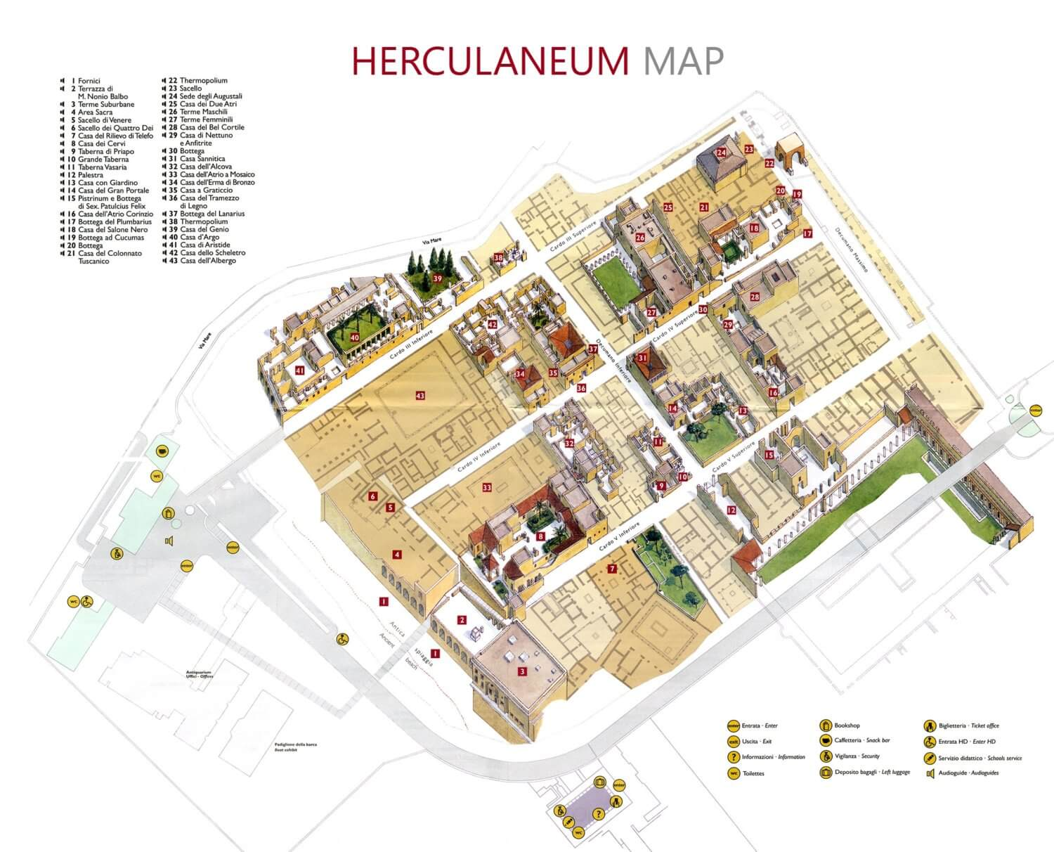 Herculaneum audioguide map