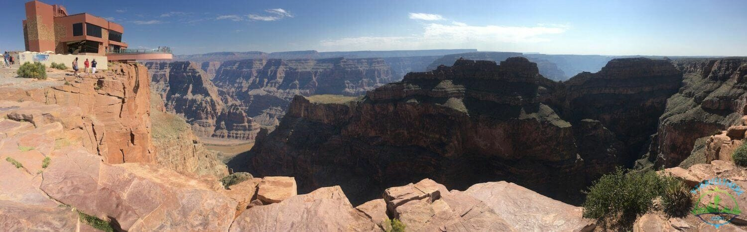 eagle point Grand Canyon west rim, skybridge Grand Canyon west rim, Grand Canyon west eagle point panorama