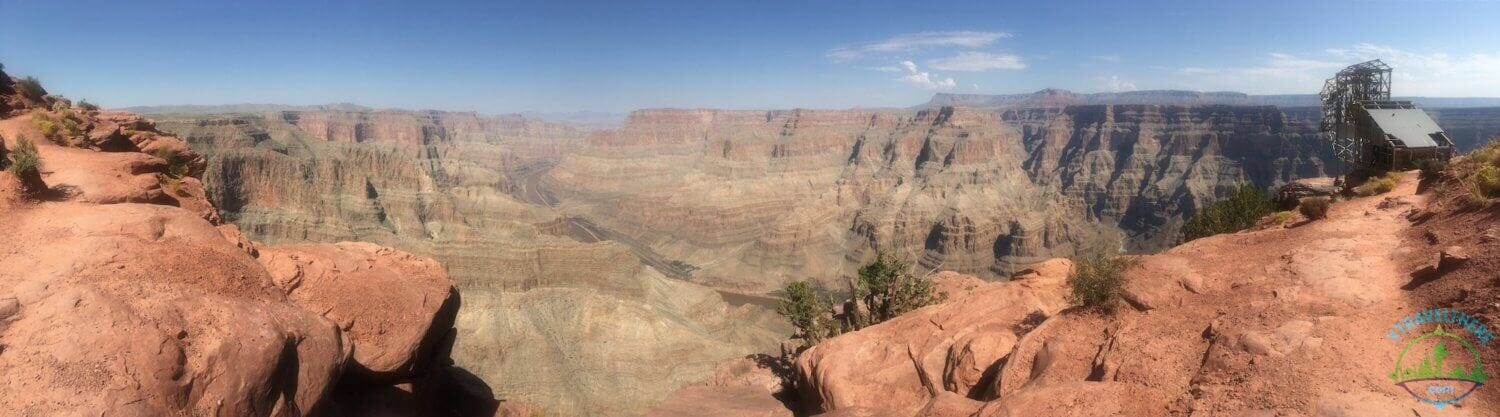 guano point panorama, Grand Canyon west rim panorama