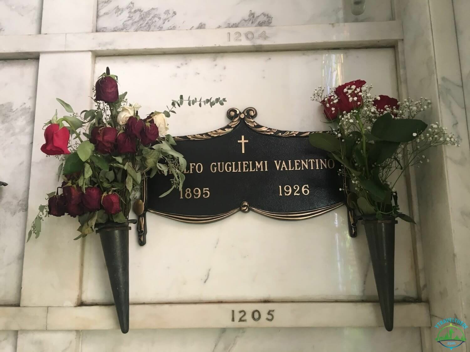 Rudolph Valentino final resting place, hollywood forever cemetery