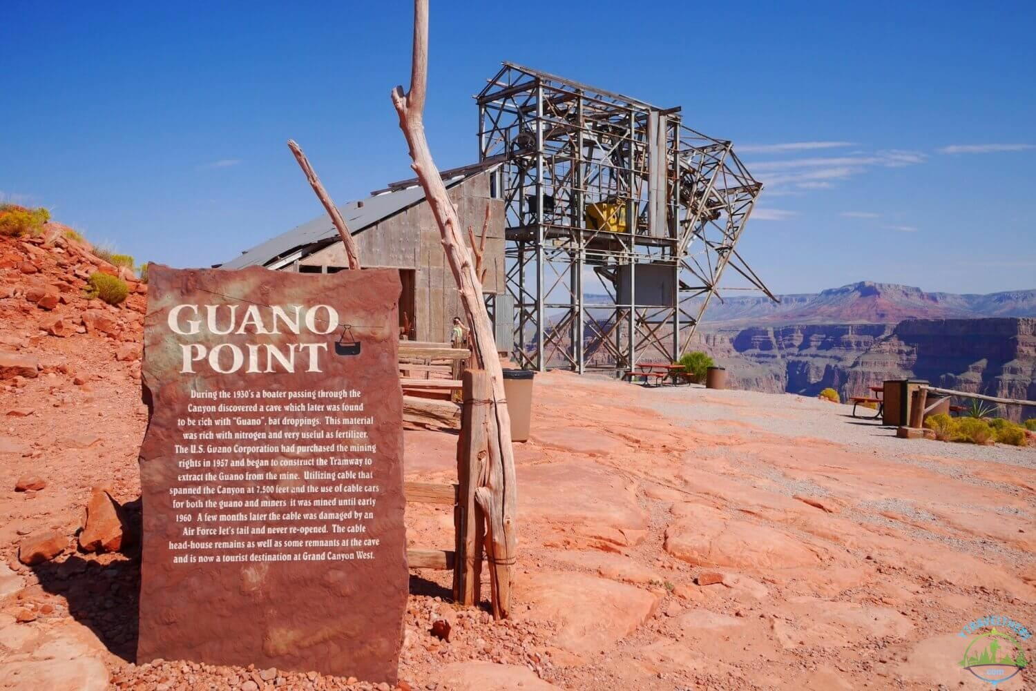 guano viewpoint, Grand Canyon west run guano point, old cable car guano point, Grand Canyon west rim sights