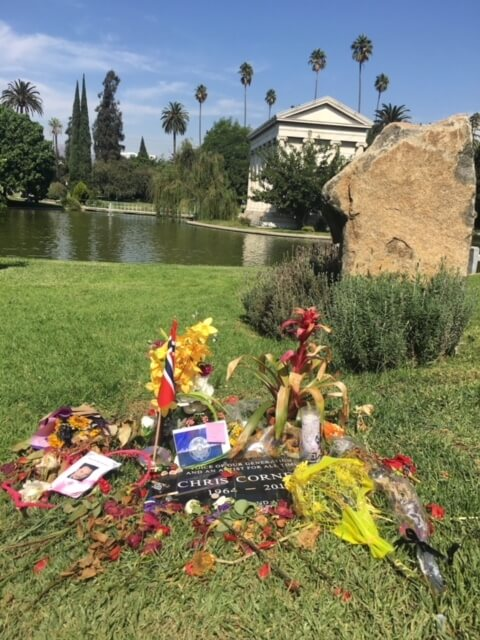 Chris Cornell grave, hollywood forever cemetery