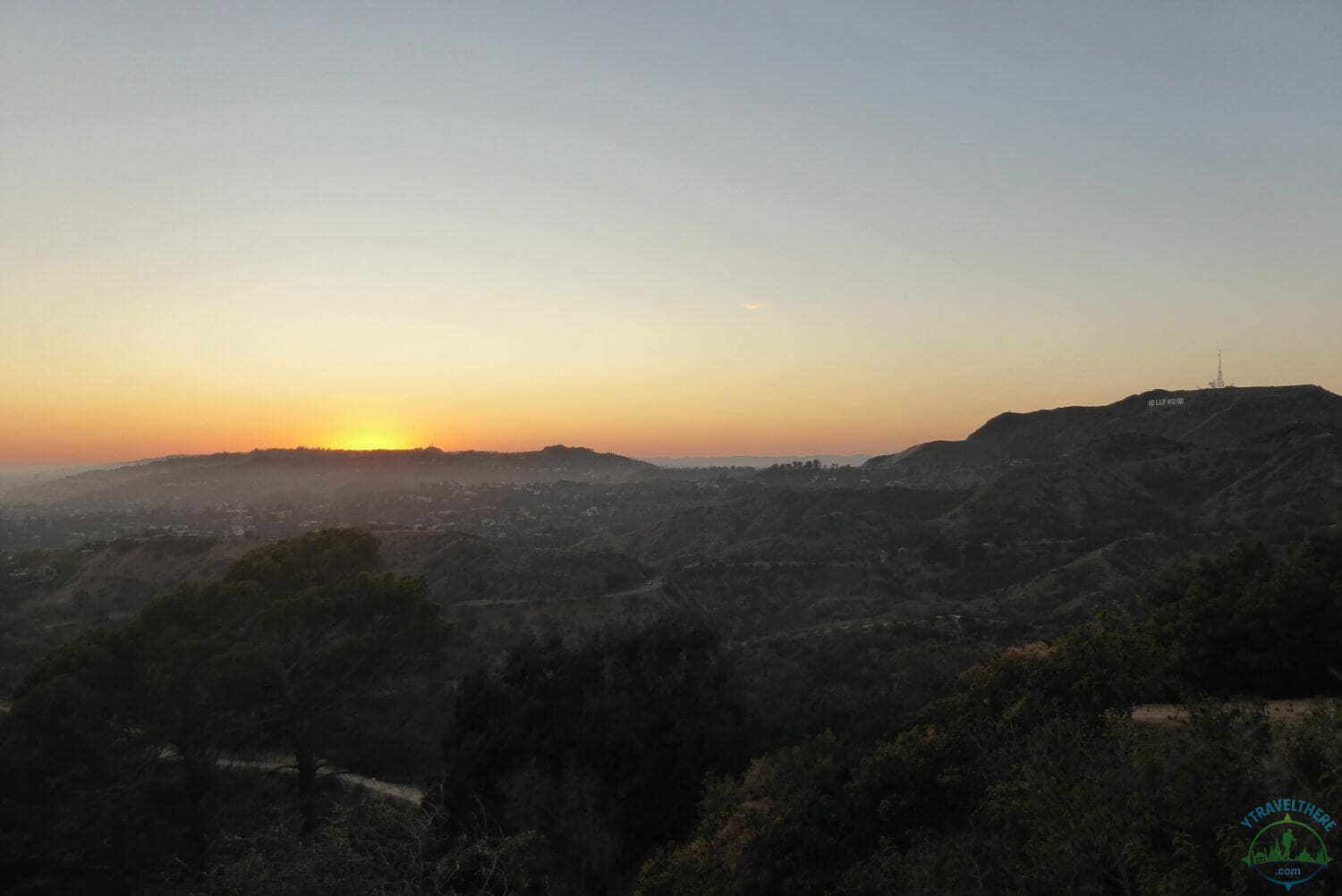 Griffith Observatory Sunset, sunset over Los Angeles, sunset over LA